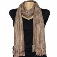 Brown handmade natural hemp scarf