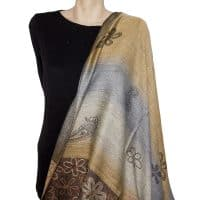 Shades of Brown Pashmina Shawl
