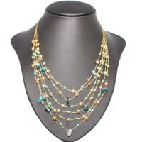 Multistrand Agate Jade Necklace