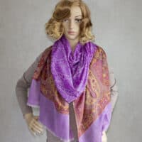 Purple Cashmere Shawl
