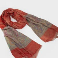 Red Paisley Cashmere Shawl