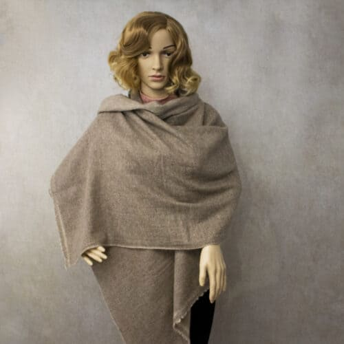 Reversible Brown Baby Cashmere