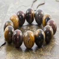 Multi Coloured Tigers Eye Bracelet