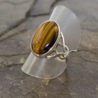 Tigers eye sterling silver ring